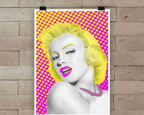 Poster Marilyn pop A3