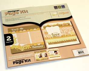 Kit 2 layouts Scrapbook Tres Elegant