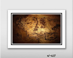 Quadro Hobbit Mapa Terra Media 60x40cm N7 Decoracao Sala