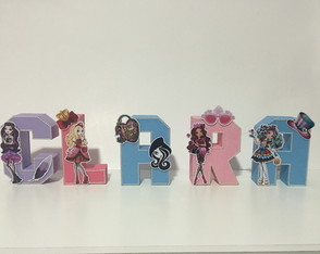 Letras 3D em papel Ever After High