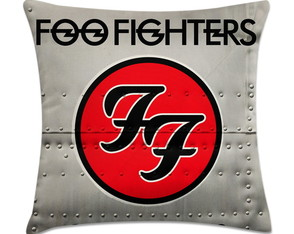 capa de almofada de rock - Foo Fighters