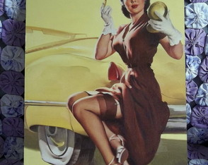 Quadro Decorativo Pin-up