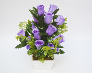 ARRANJO FLORAL PURPLE ROSES