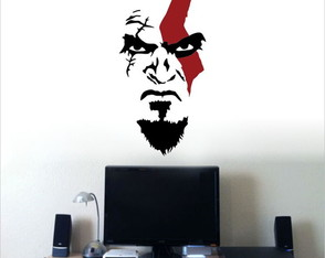 Adesivo Decorativo (Kratos- God Of War)