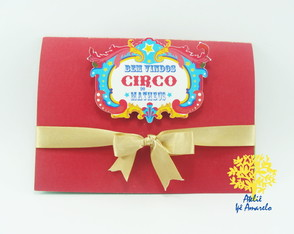 Convite Circo do Mickey Pop Up