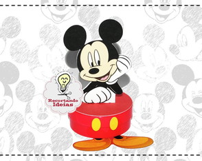 Latinha 3D Mickey Mouse