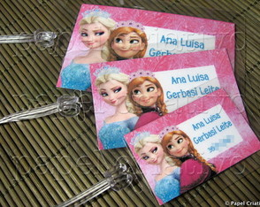Kit 3 Bagtags - FROZEN/ Elsa e Anna