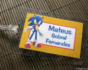 Kit 3 Bagtags - SONIC