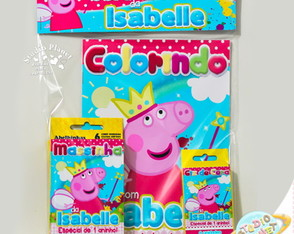 Kit colorir Peppa Pig Fada