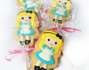 Biscoito decorado Alice No pais das mara