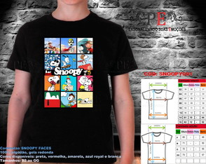 Camisetas Snoopy Faces