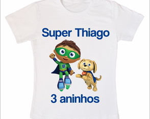 Camiseta Infantil Super Why
