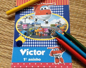 CADERNINHO SCRAPBOOK - SUPER WINGS