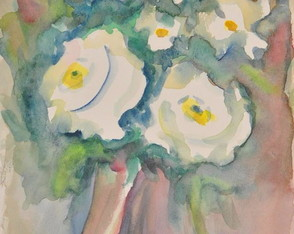 Aquarela Bouquet Branco