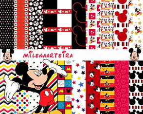 kit papeis digitais Mickey Mouse