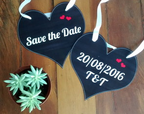 Plaquinha Save the Date para os Pets