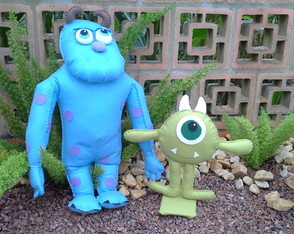 Sulley e Mike de Monstros S/A