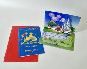 Convite Passaporte Disney Pop up - 3D
