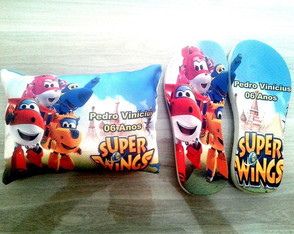 chinelo+almofada Super Wings