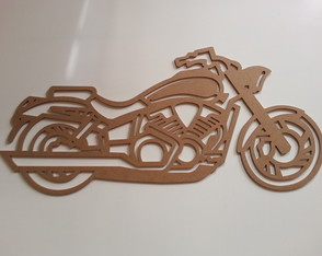Moto Custo 2 - MDF 6mm - 55 x 25 cm