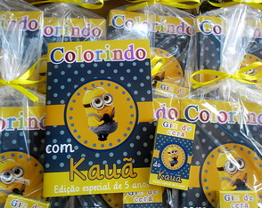 Kit Colorir Minions 14x20cm