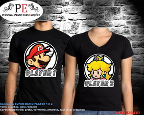 Camisetas Super Mario Player