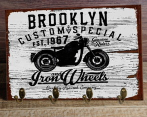 Cabideiro/Porta Chaves Brooklyn Moto