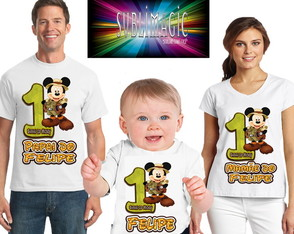 Kit 3 Camisetas Mickey Safari A3
