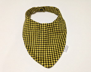 BABADOR BANDANA XADREZ YELLOW BLACK