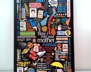"Quadro ""How I Met Your Mother"" 18x25"