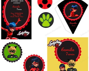 Kit Festa Digital Miraculous Ladybug
