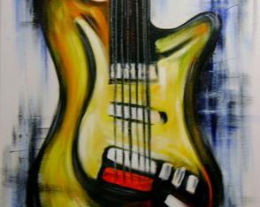 Quadro em tela violino dourado música natureza morta quadros