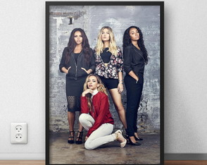 "Poster ""Little Mix"" com moldura"