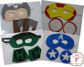 Kit Máscaras Vingadores