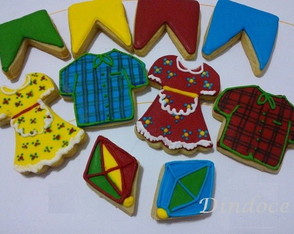 Festa Junina Bolacha Decorada