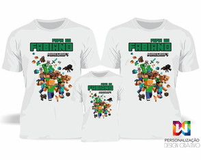 Kit camisas Familia Minecraft