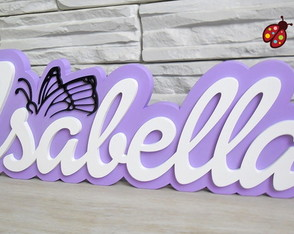 Nome - Tema Barbie Butterfly