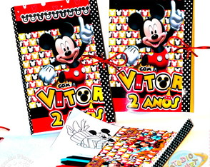 Kit Pastinha de colorir Mickey Mouse