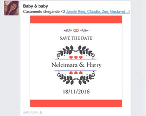 Save the Date digital para Facebook