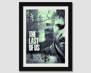 The Last Of Us Quadro 45x35cm Ps4 Games