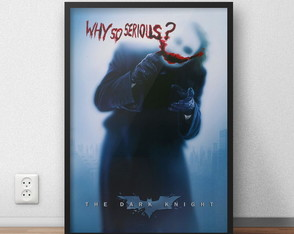 Quadro decorativo Coringa Why So Serious com moldura e vidro