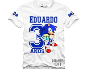 Camiseta Sonic Tails Amy Personalizada