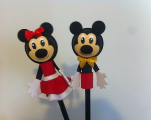 Kit mickey ou minnie -caderno e ponteira