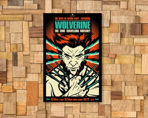 Placa Decorativa Wolverine