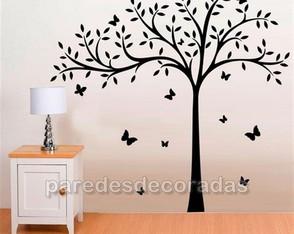 22cd98b03 Adesivo Árvore Grande + 11 Borboletas