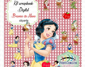 Kit Scrapbook digital Branca de Neve 1