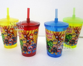 Copo Shake 700ml Vingadores Cute