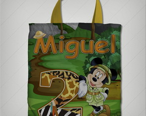 bolsinha mickey safari 20x23