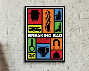 Quadro séries Breaking Bad