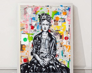 Quadro Frida Kahlo pop art